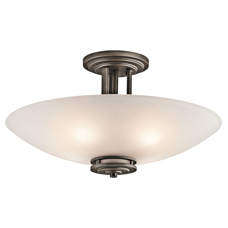 Kichler 3677 Hendrik 4 Light Semi-Flush Indoor Ceiling Fixture Olde