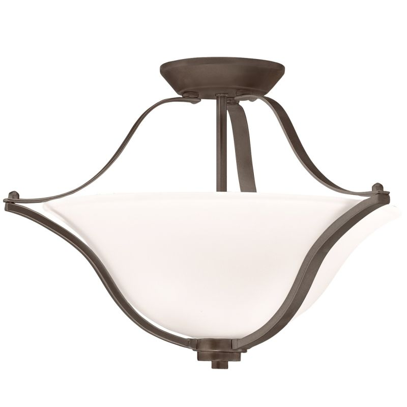 Kichler 3681 Langford 2 Light Semi-Flush Indoor Ceiling Fixture Olde