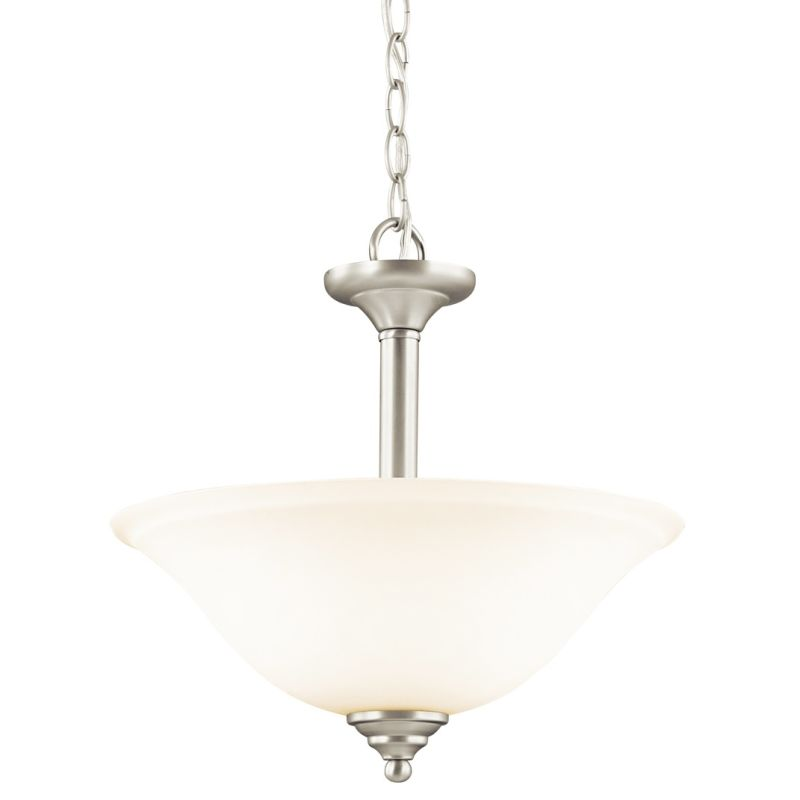 Kichler 3694 Wynberg 2 Light Semi-Flush Indoor Ceiling Fixture Brushed