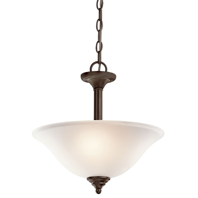 Kichler 3694 Wynberg 2 Light Semi-Flush Indoor Ceiling Fixture Olde