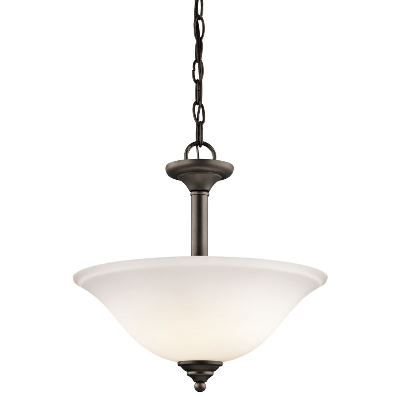 Kichler 3694ozw Olde Bronze Armida 2 Light Semi Flush