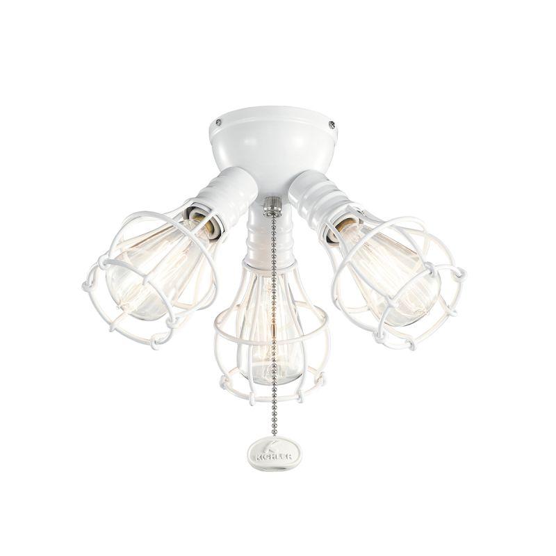 Kichler 370041 3 Light Kit for Ceiling Fan White Fan Accessories Fan Sale $81.00 ITEM: bci2608385 ID#:370041WH UPC: 783927449977 :