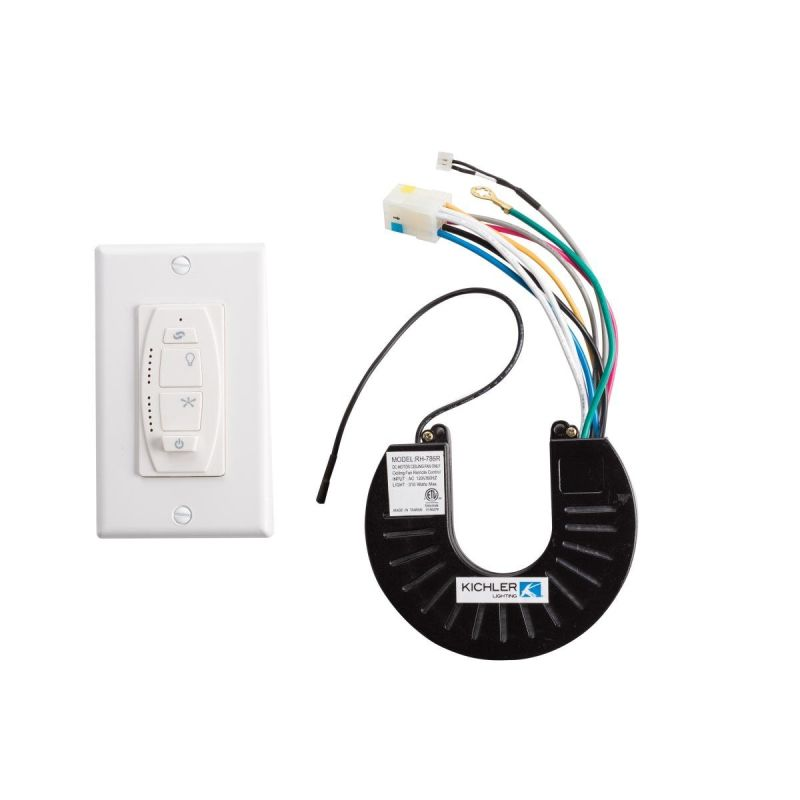 Kichler 370100 6 Speed Wall Control Kit for Kichler DC165M Fans Ivory