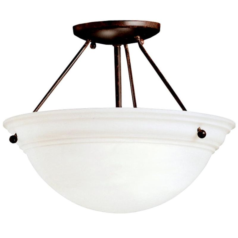 Kichler 3718 Cove Molding Top Glass 2 Light Semi-Flush Indoor Ceiling