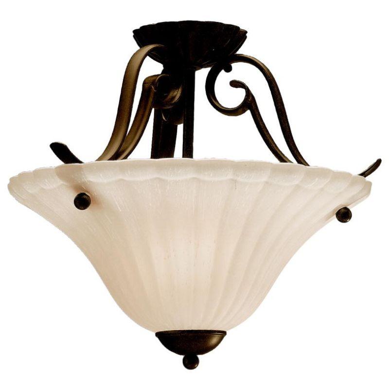 Kichler 3729 Willowmore 1 Light Semi-Flush Indoor Ceiling Fixture