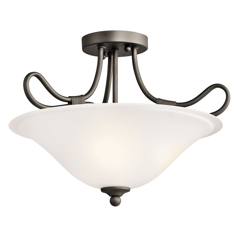 Kichler 3757 Stafford 2 Light Semi-Flush Indoor Ceiling Fixture Olde