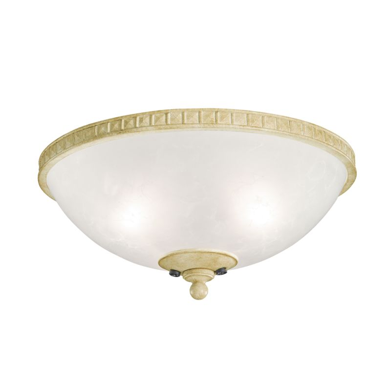 Kichler 380007 Cortez Bowl Light Fixture Aged White Fan Accessories
