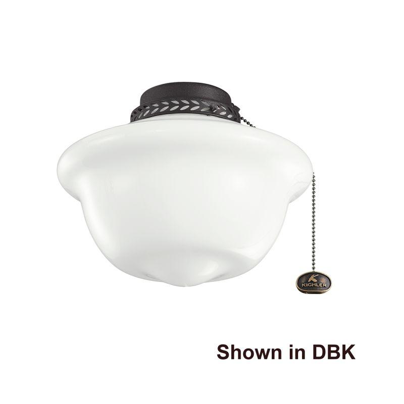 Kichler 380065 One Light Ceiling Fan Light Kit Natural Brass Fan