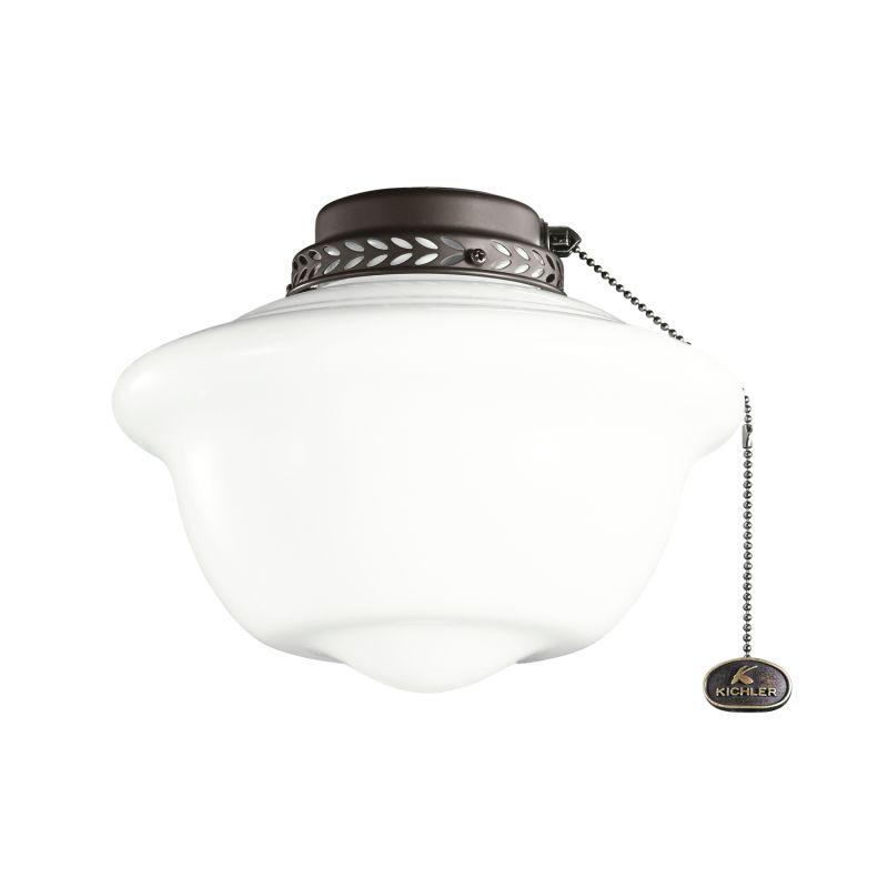 Kichler 380065 One Light Ceiling Fan Light Kit Satin Natural Bronze