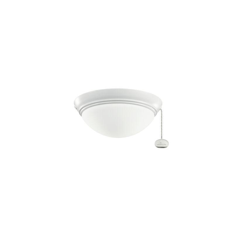Kichler 380120 Small Two Light Low Profile Halogen Light Kit White Fan