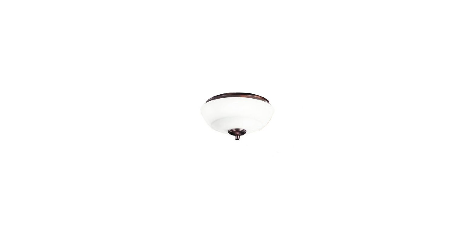 Kichler 380134 Brinbourne 3 Light Bowl Fan Light Kit Oil Brushed