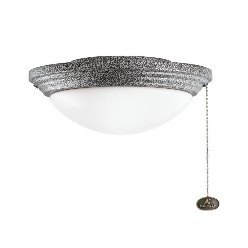 Kichler 380902 Accessory 2 Light Outdoor Fan Light Kit Weathered Steel