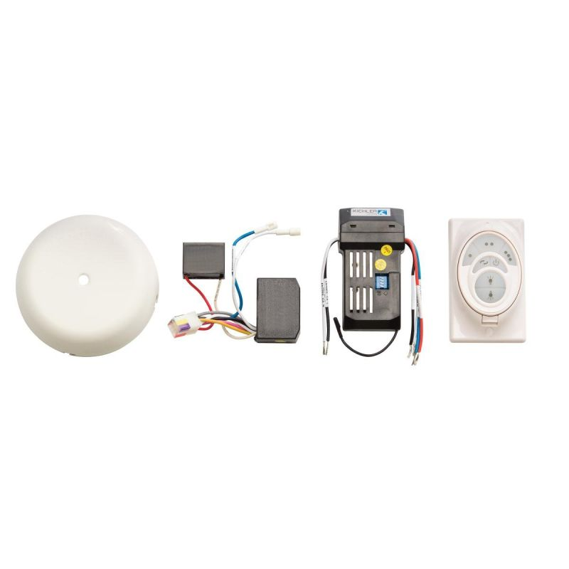 Kichler 3W500 CoolTouch Control System W500 Satin Natural White Fan