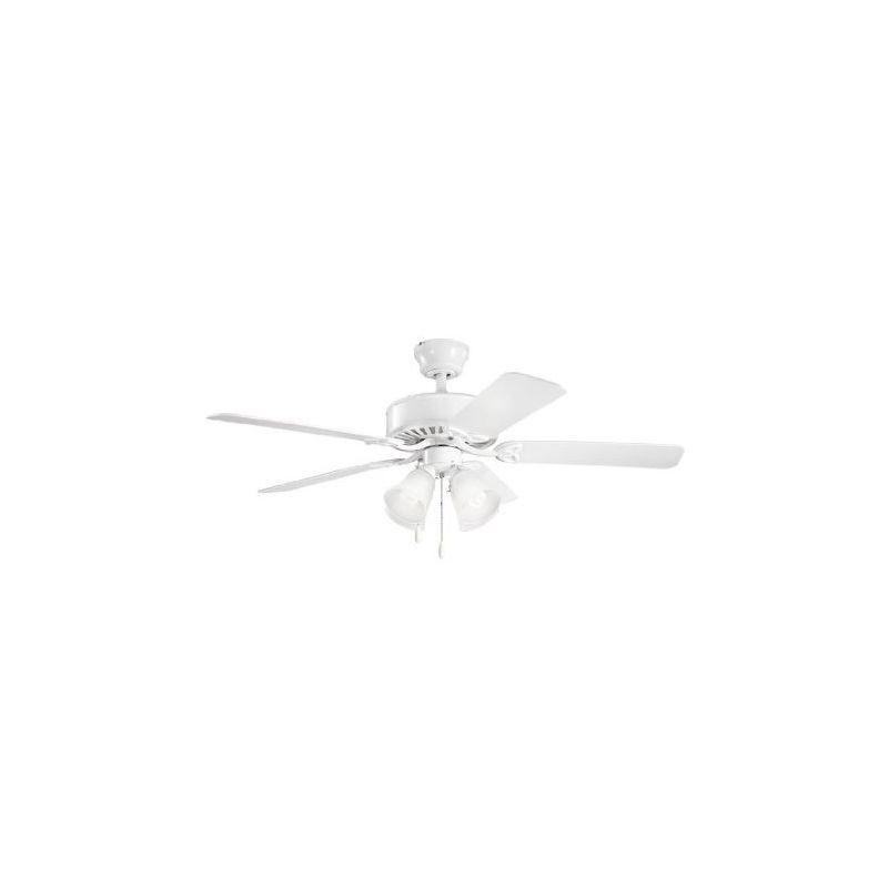 "Kichler 4021 52"" Indoor Ceiling Fan with Blades Light Kit Downrod"
