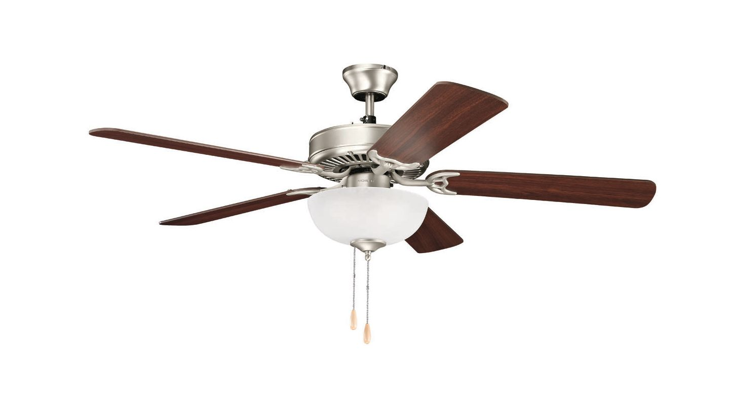 "Kichler 4037 52"" Indoor Ceiling Fan with Blades Light Kit and Pull"