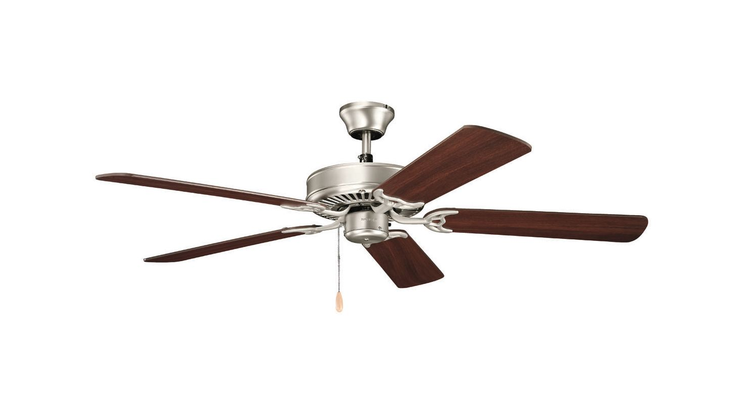 "Kichler 4047 52"" Indoor Ceiling Fan with Blades Downrod and Pull Sale $78.00 ITEM: bci2304997 ID#:404NI7 UPC: 783927393911 :"