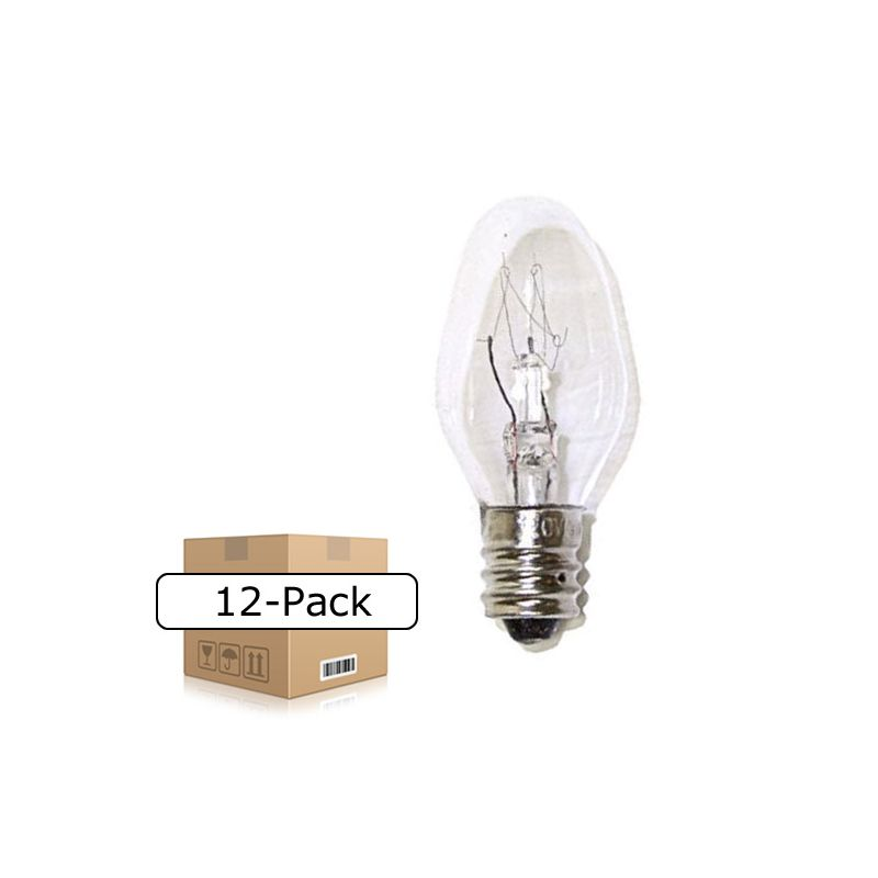 Kichler 4069CLR 15 Watt E12 C7 Clear Incandescent Bulbs - Pack of 12