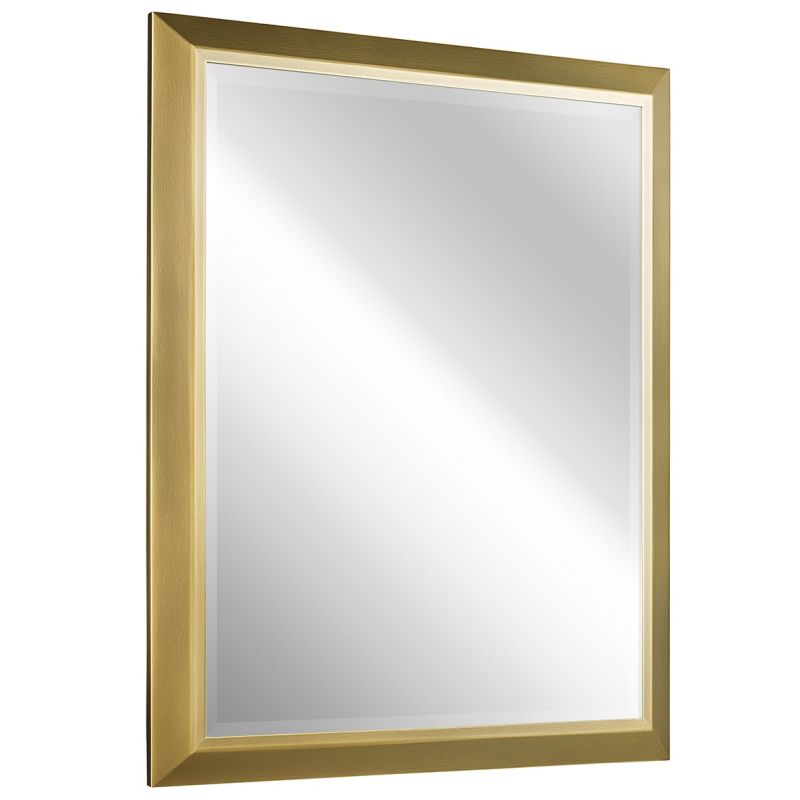 Kichler 41011 Signature Rectangle Beveled Framed Mirror Natural Brass