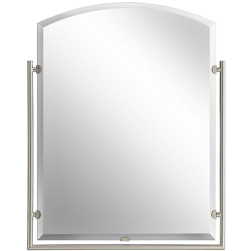 "Kichler 41056 Structures Arched Mirror - 30"" x 24"" Brushed Nickel Home"
