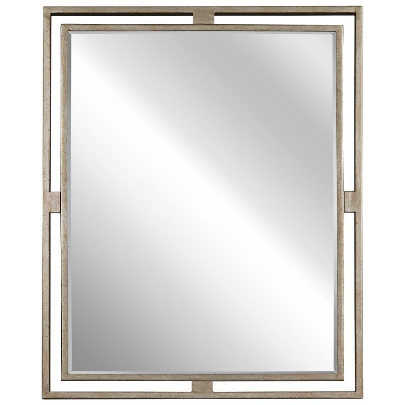 Kichler 41071 Hendrik Rectangle Beveled Framed Mirror Sterling Gold