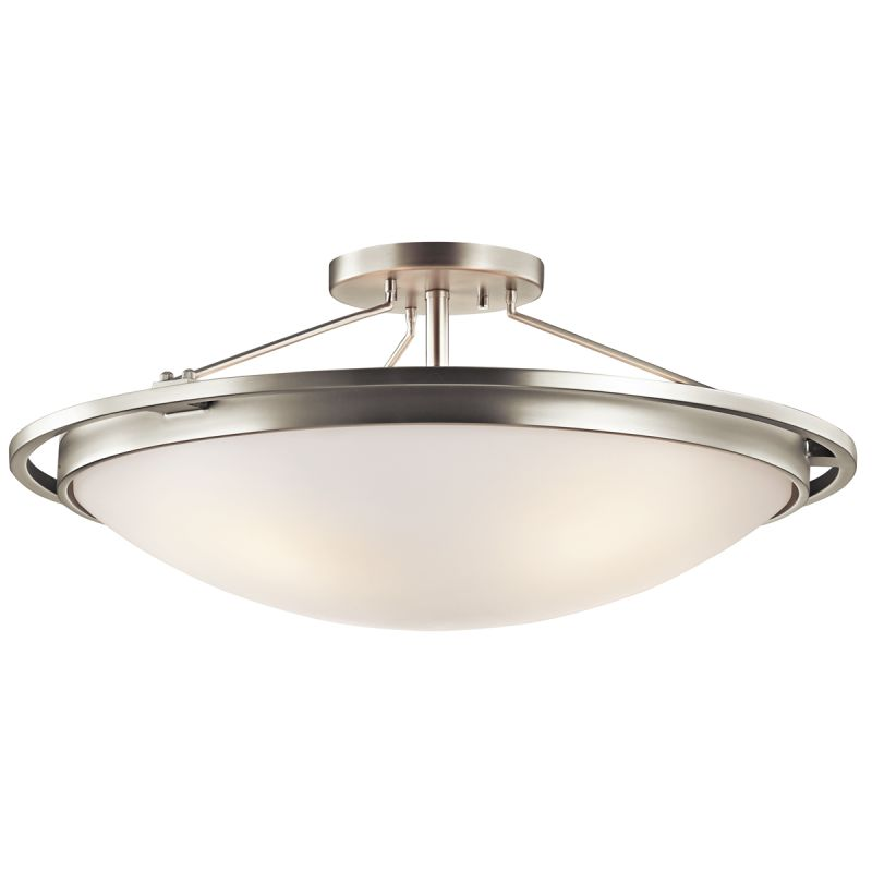 Kichler 42025 4 Light Semi-Flush Indoor Ceiling Fixture Brushed Nickel