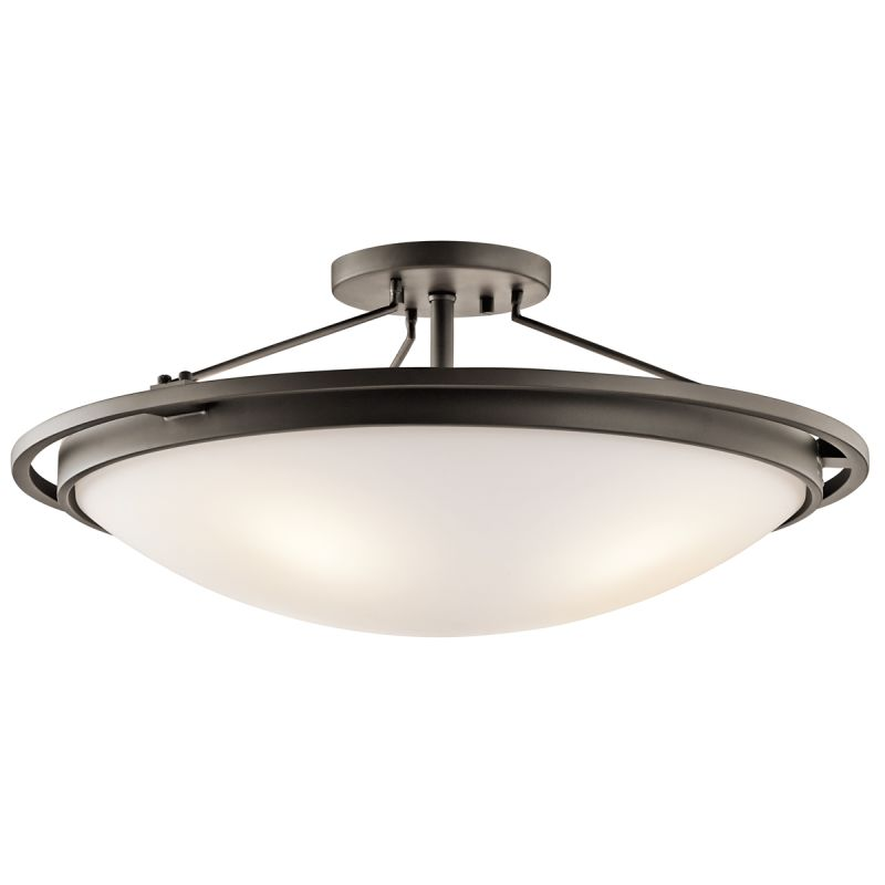 Kichler 42025 4 Light Semi-Flush Indoor Ceiling Fixture Olde Bronze