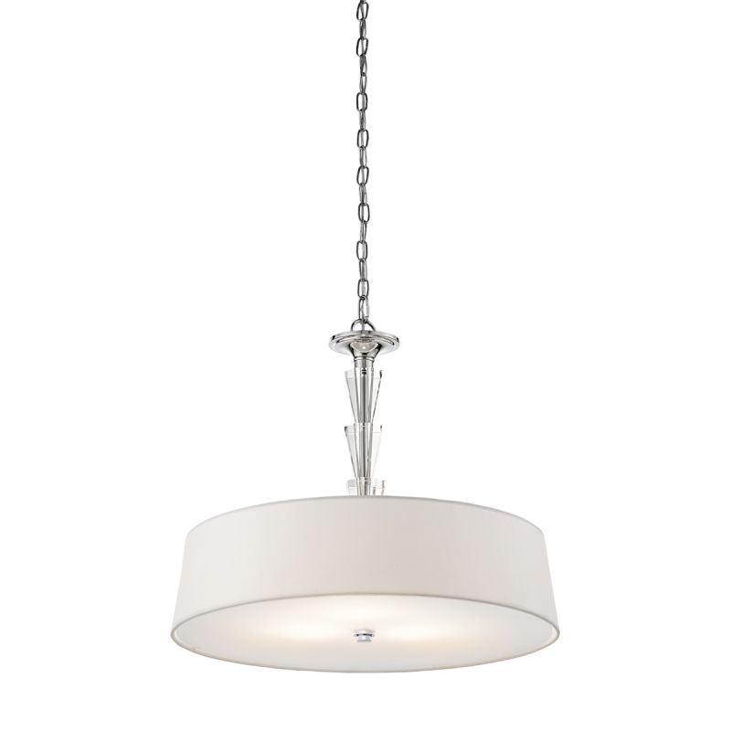 Kichler 42034CH Chrome Contemporary Crystal Persuasion Pendant
