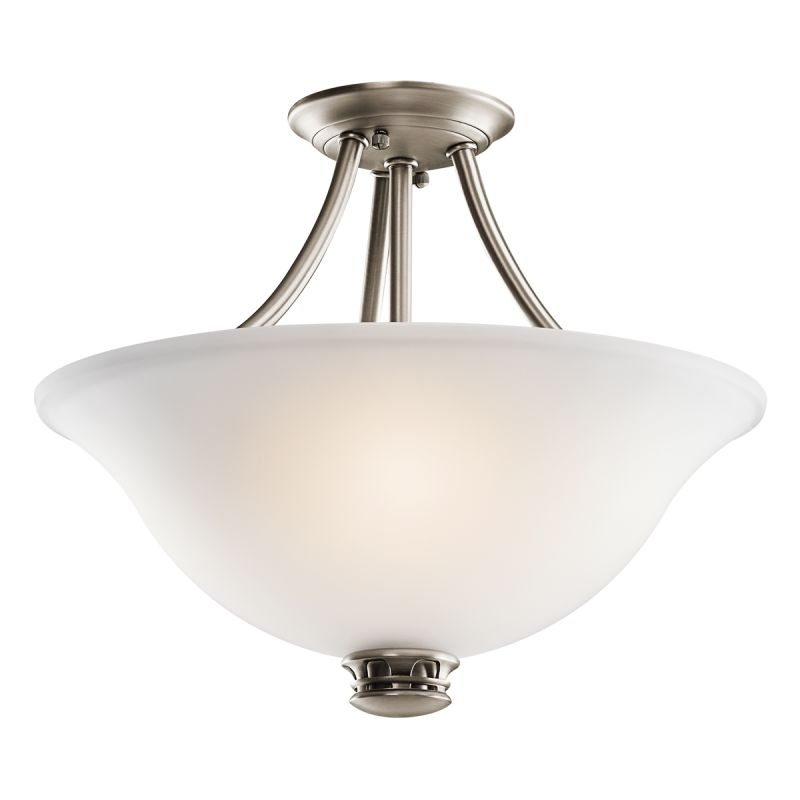 Kichler 42070ap Antique Pewter Durham 2 Light Semi Flush