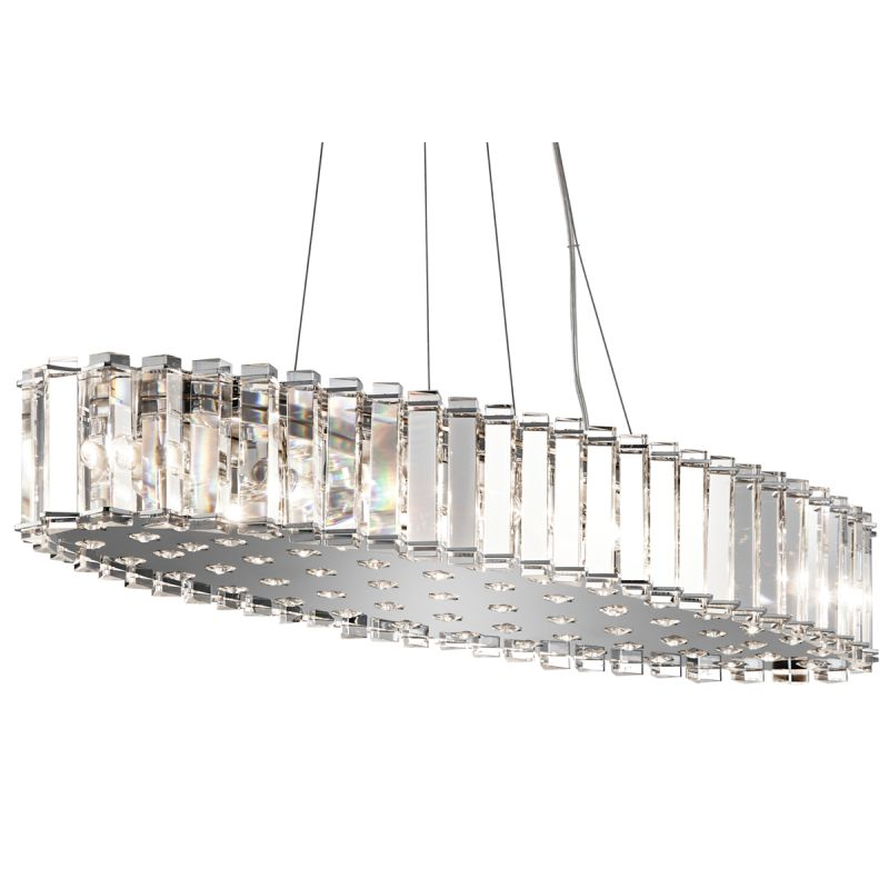 Kichler 42173CH Chrome Contemporary Crystal Skye Chandelier