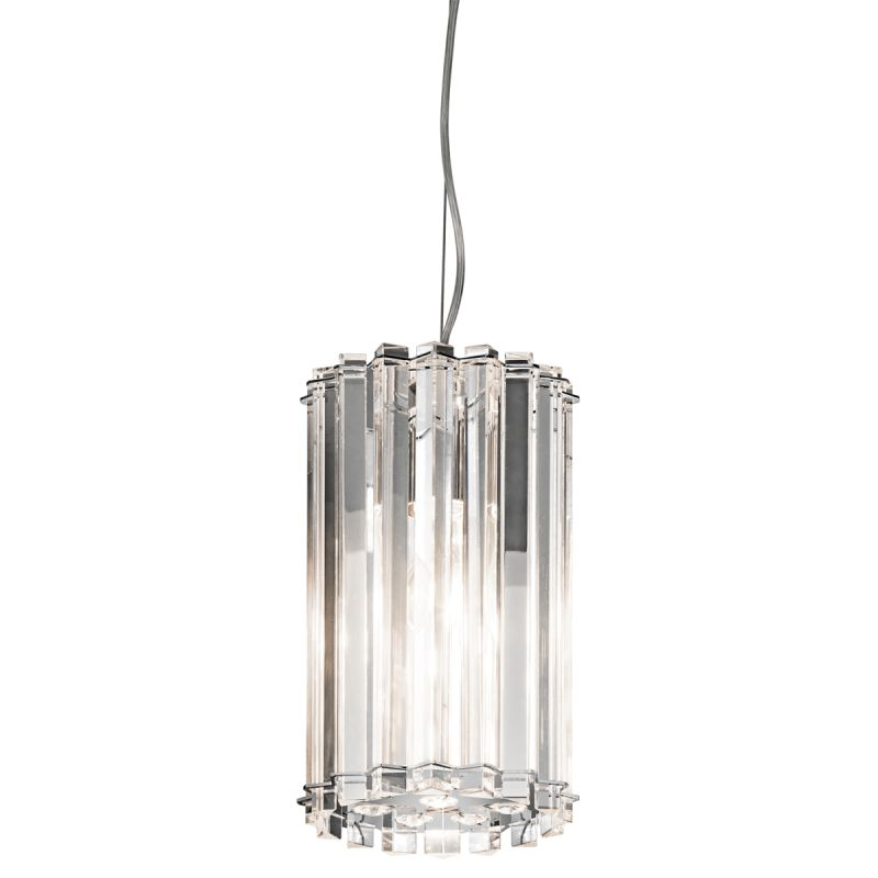 Kichler 42174 Crystal Skye Single-Bulb Indoor Pendant with Cylindrical