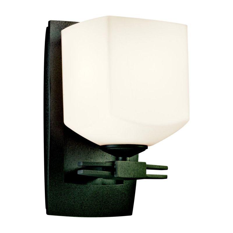 Japanese Wall Sconces: Kichler 42267AVI Anvil Iron Asian / Oriental Single Light
