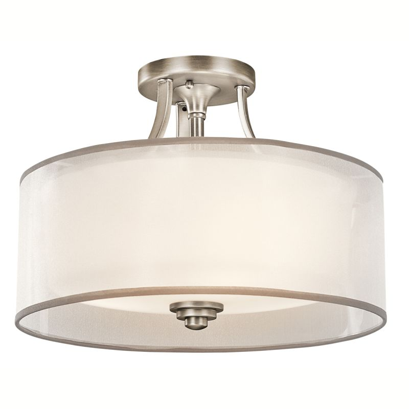 "Kichler 42386 Lacey 3 Light 15"" Wide Semi-Flush Ceiling Fixture with"