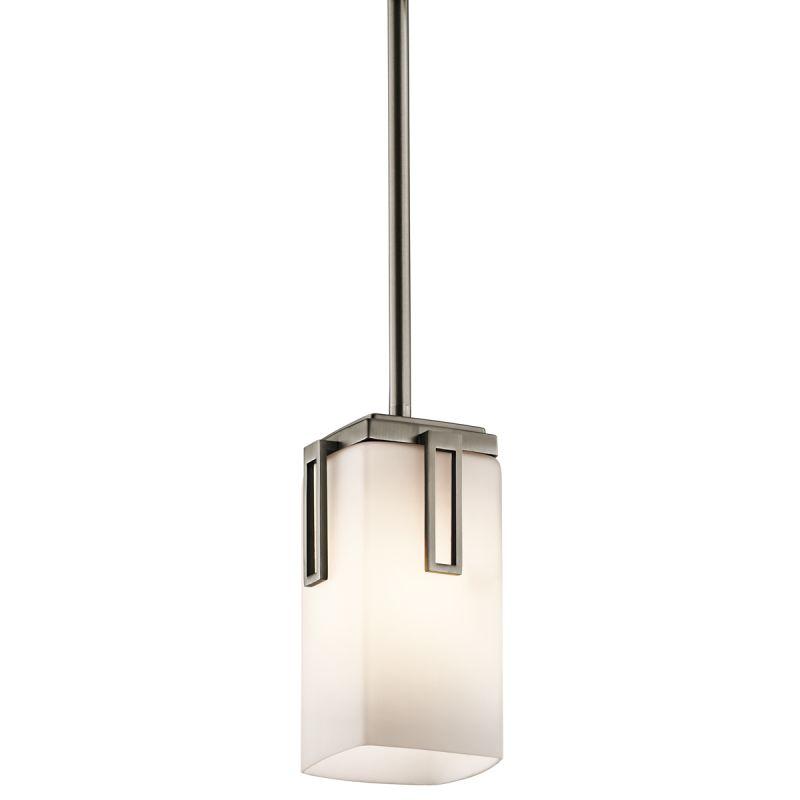 Kichler 42432 Leeds Single-Bulb Indoor Pendant with Rectangular Glass