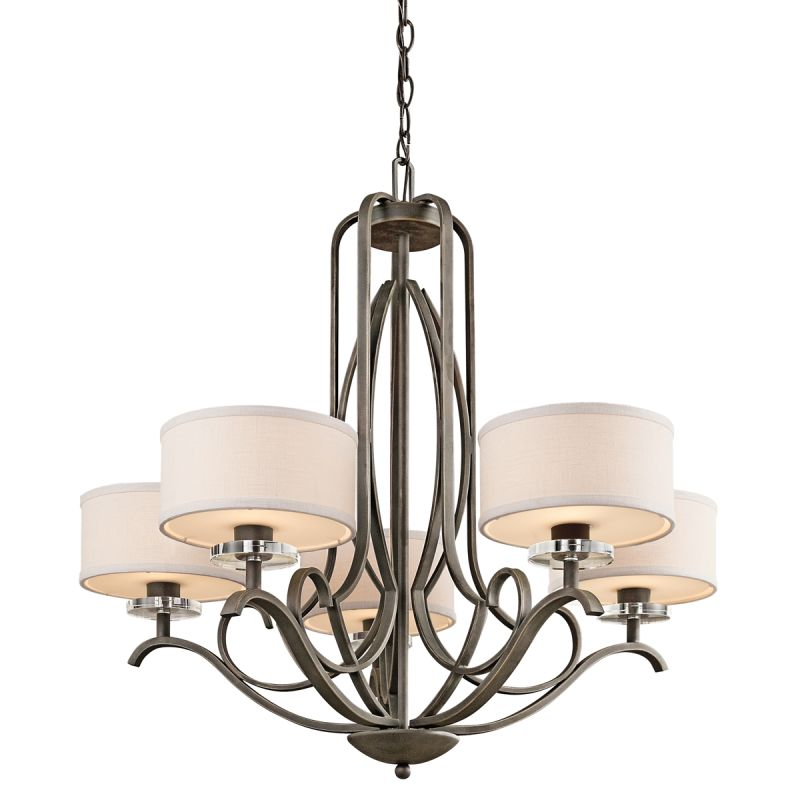 Kichler 42476 Leighton Single-Tier Chandelier with 5 Lights - 72""