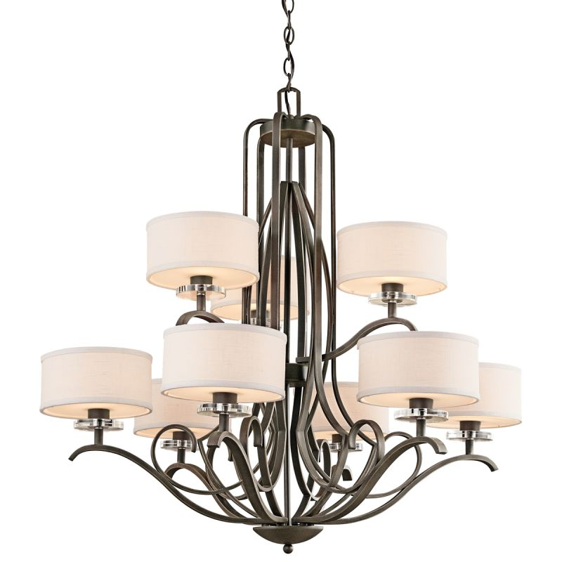 "Kichler 42478 Leighton 2-Tier Chandelier with 9 Lights - 72"" Chain"