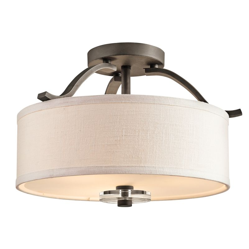 Kichler 42485 Leighton 3 Light Semi-Flush Indoor Ceiling Fixture Olde