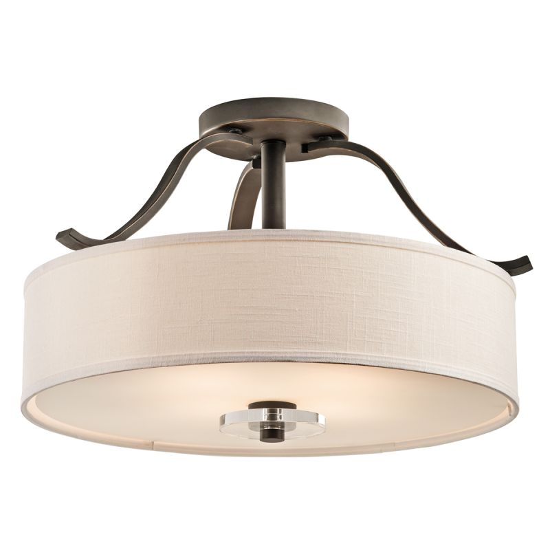Kichler 42486 Leighton 4 Light Semi-Flush Indoor Ceiling Fixture Olde