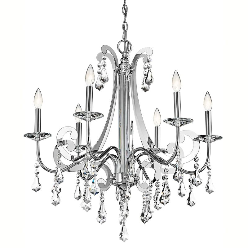 Kichler 42545 Leanora Single-Tier Chandelier with 6 Lights - 72""