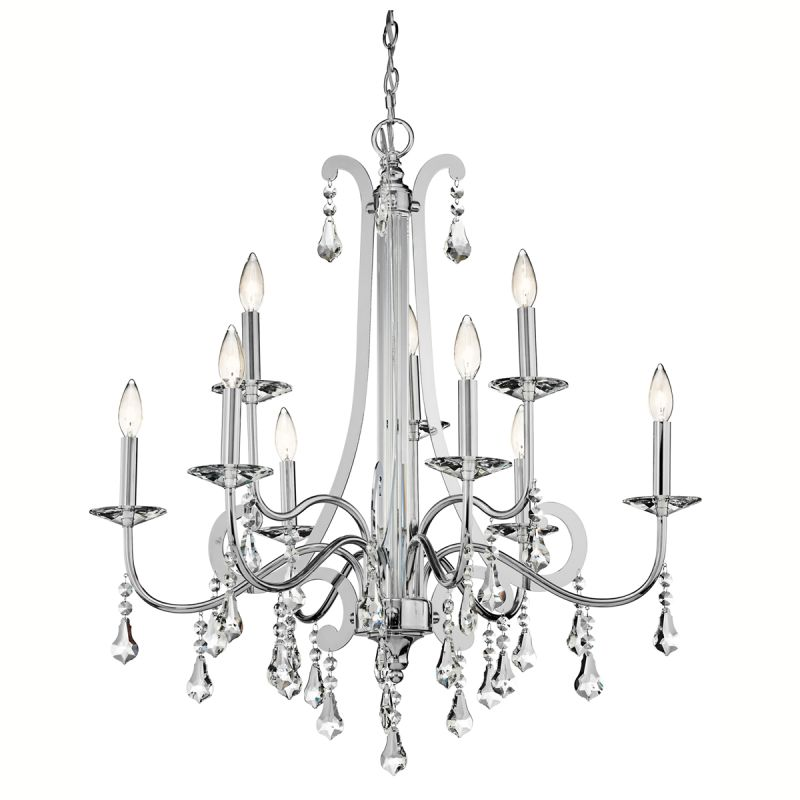 "Kichler 42546 Leanora 2-Tier Chandelier with 9 Lights - 72"" Chain"