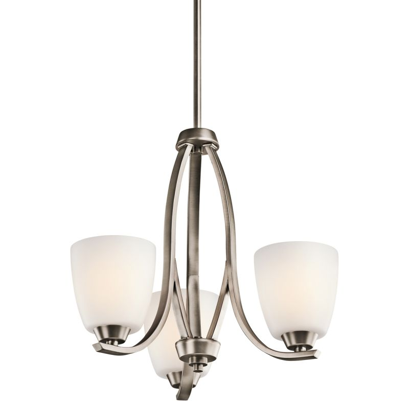 Kichler 42556 Granby Single-Tier Mini Chandelier with 3 Lights - Stem Sale $248.00 ITEM: bci1678870 ID#:42556BPT UPC: 783927334211 :