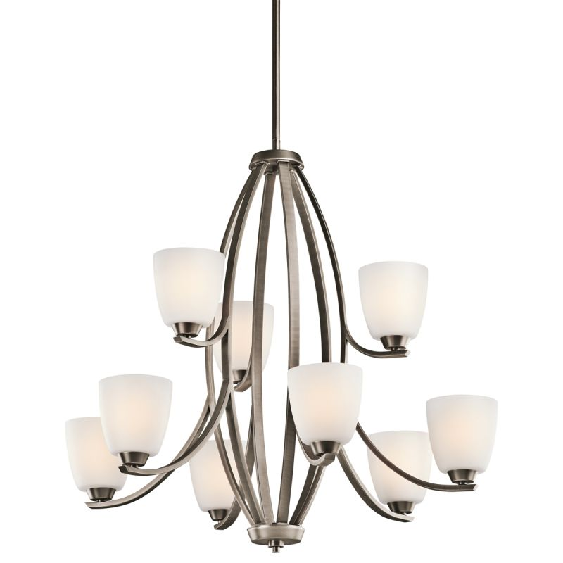 Kichler 42559 Granby 2-Tier Chandelier with 9 Lights - Stem Included