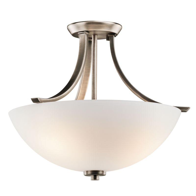 Kichler 42563 Granby 3 Light Semi-Flush Indoor Ceiling Fixture Brushed