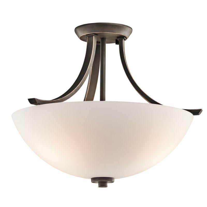 Kichler 42563 Granby 3 Light Semi-Flush Indoor Ceiling Fixture Olde