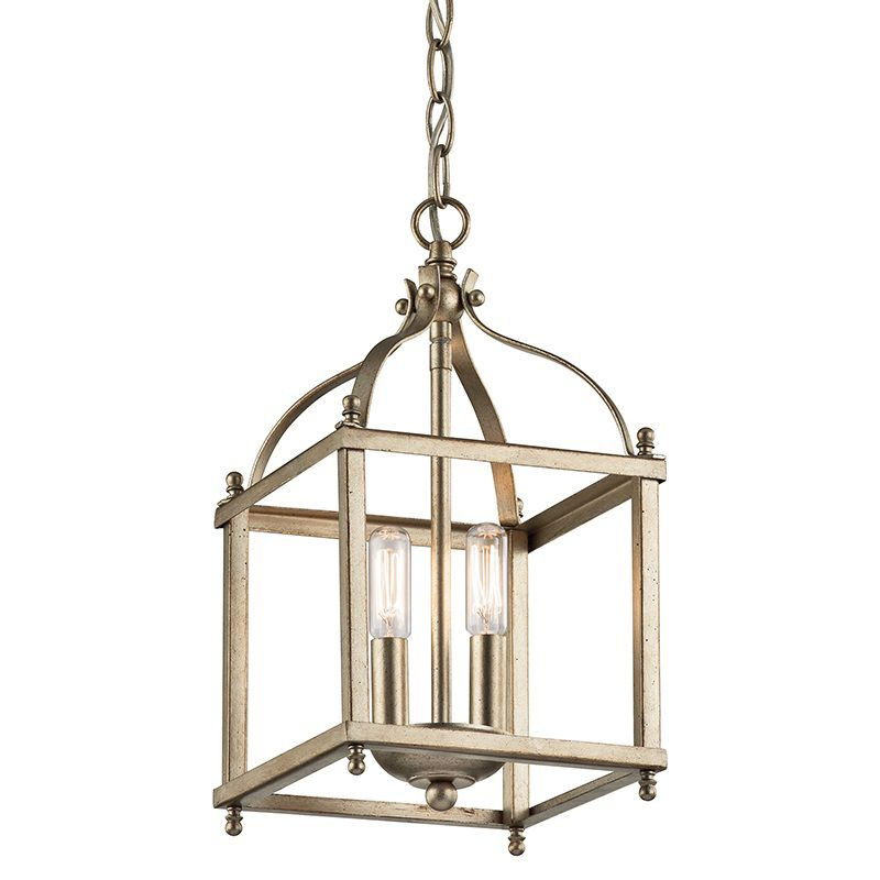 "Kichler 42565 Larkin 2 Light 8"" Wide Pendant with Metal Cage Frame"
