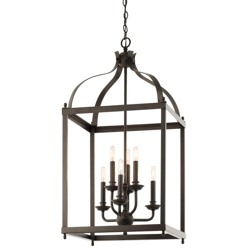 "Kichler 42568 Larkin 6 Light 18"" Wide Pendant with Metal Cage Frame"
