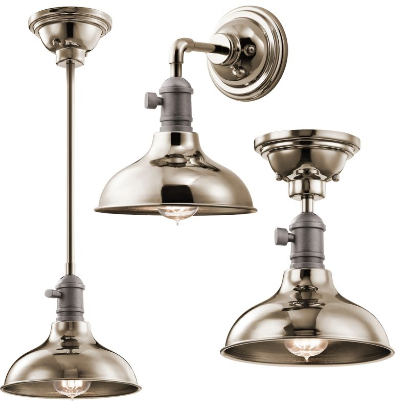 "Kichler 42579 Cobson Mini Pendant / Ceiling Light / Wall Sconce - 8"""