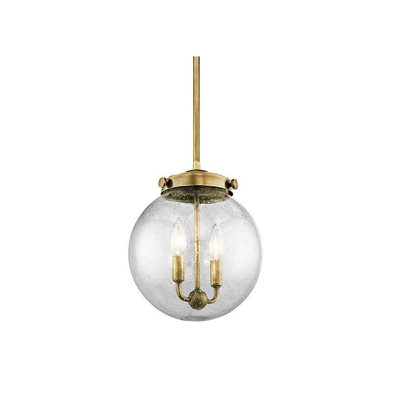 Kichler 42588 Holbrook Mini Pendant with Round Seedy Glass Shade