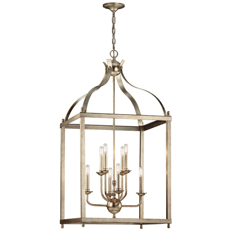 "Kichler 42591 Larkin 8 Light 24"" Wide 2-Tier Chandelier with Metal"
