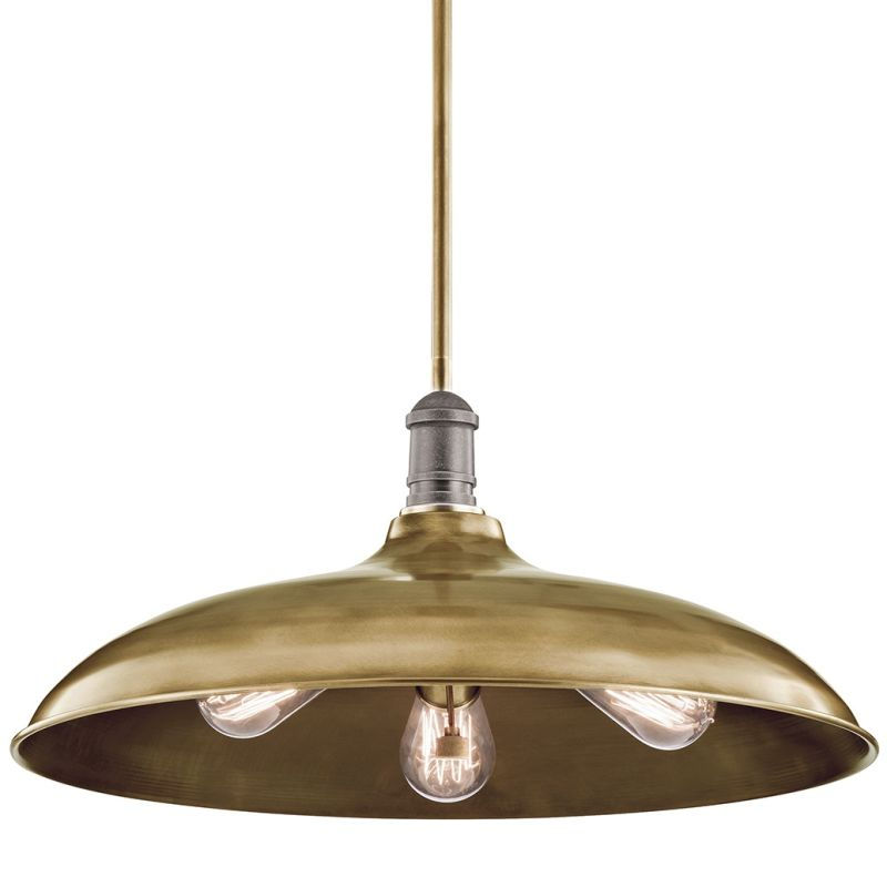 """Kichler 42649 Cobson 3 Light 20"""" Wide Pendant with Metal Shade Natural"""