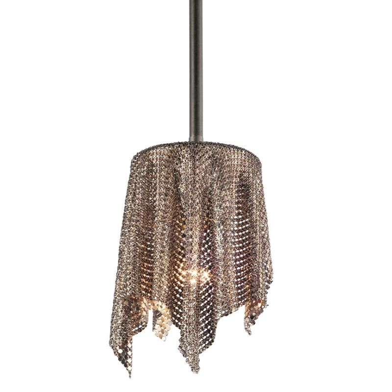 Kichler 42679 Single-Bulb Indoor Pendant with Customized Fabric Shade